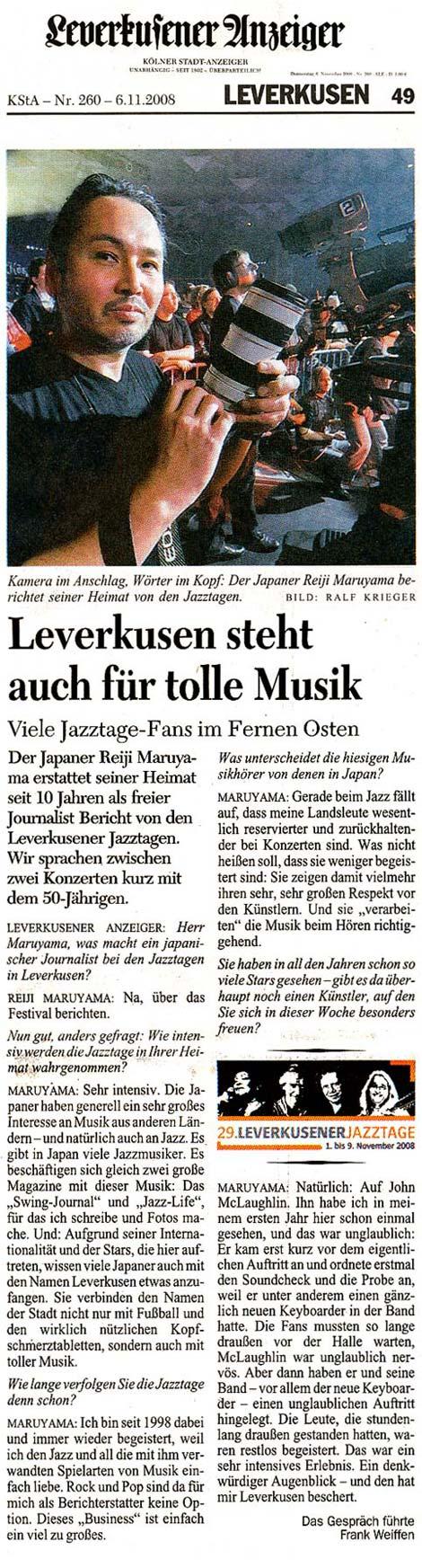 Presse Artikel Leverkusen
